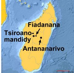 Map with Fiadanana