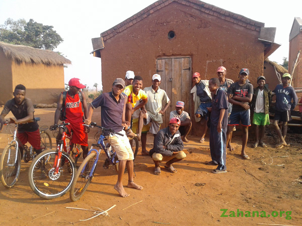 Bicyles in the village during the first site visit