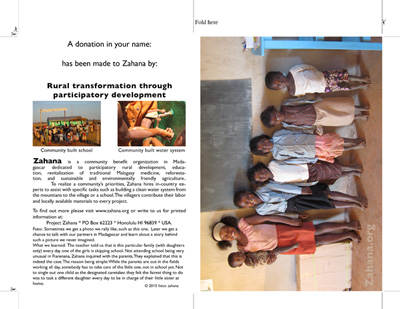 seven sisters in the classroom in Madagascar