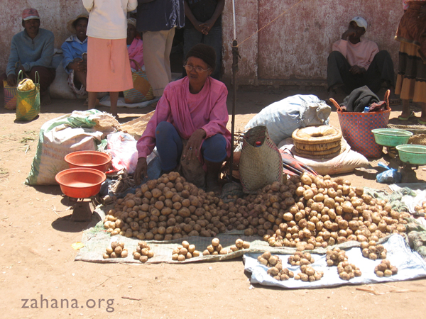 Potato vendor in Madagascar