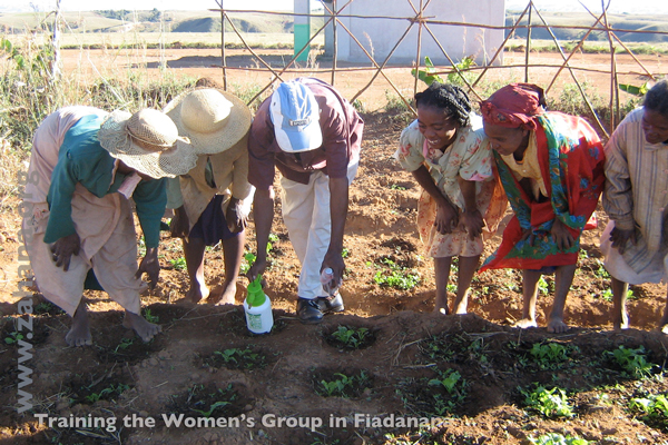 Training the womens group in rural Madagascar - Zahana