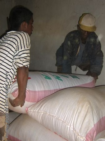 rice for the school food and the seed bnk in Fiadanana, madagascar