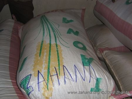 rice bought by zahana for the village seed bank