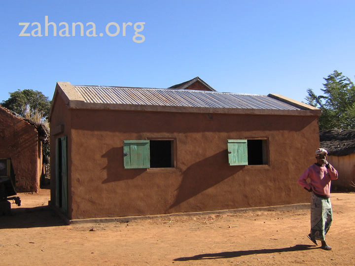 The communal rice storage building in Fiareanana, Madagascar