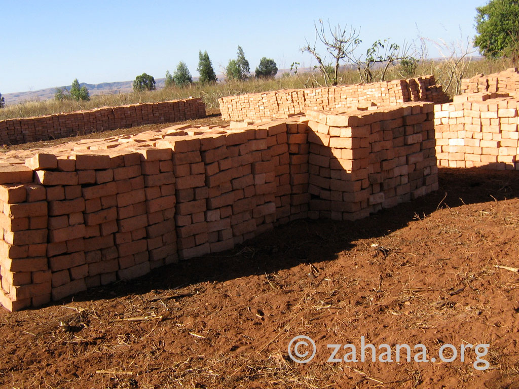 Bricks for the future school in Fiarenana, Madagascar