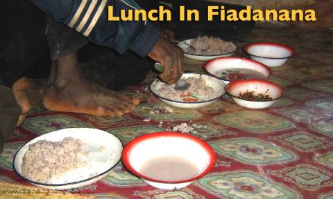 A plate of rice for lunch in madagascar