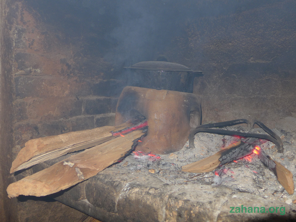 Improved cookstove by Zahana in a kitchen in rural Madagascar