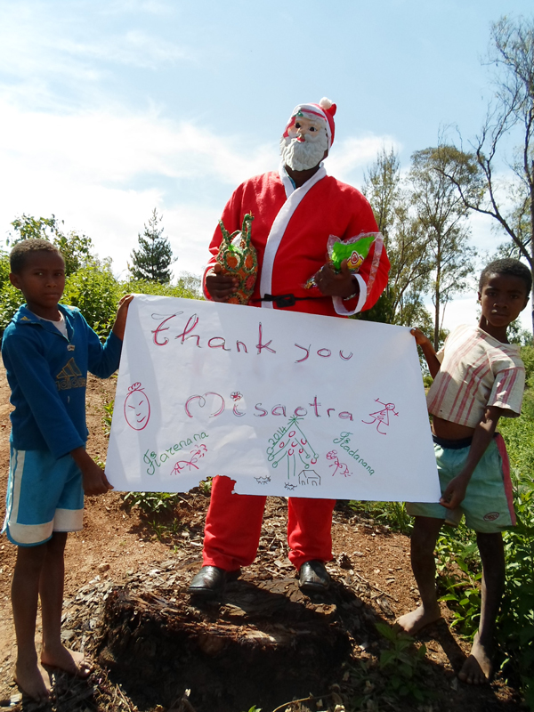 Thank you from Zahana in Madagascar