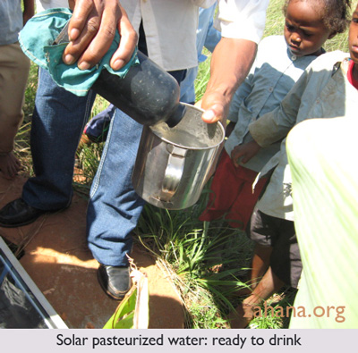 solar water pasteurizer