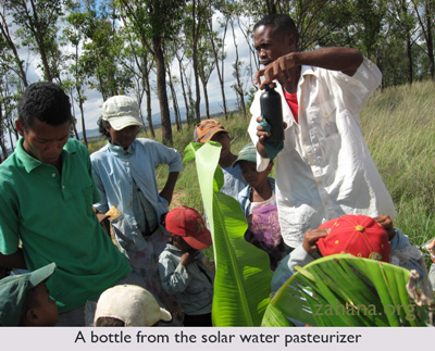 solar water pasteurizer in madagascar