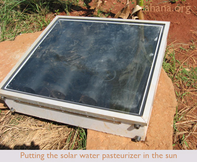solar water pasteurizer in Fiarenana, Madagacar