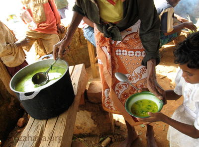 soup in the school of Fiarenana Madagascar