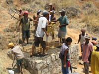 Building their water system in Madagascar