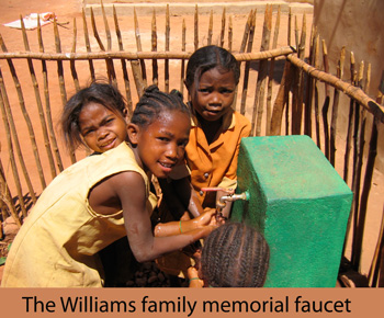 The Williams family memorial faucet